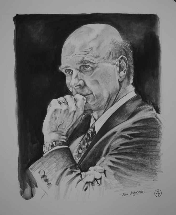 Graphite Drawing - Coach Phil Martelli by Paul Autodore