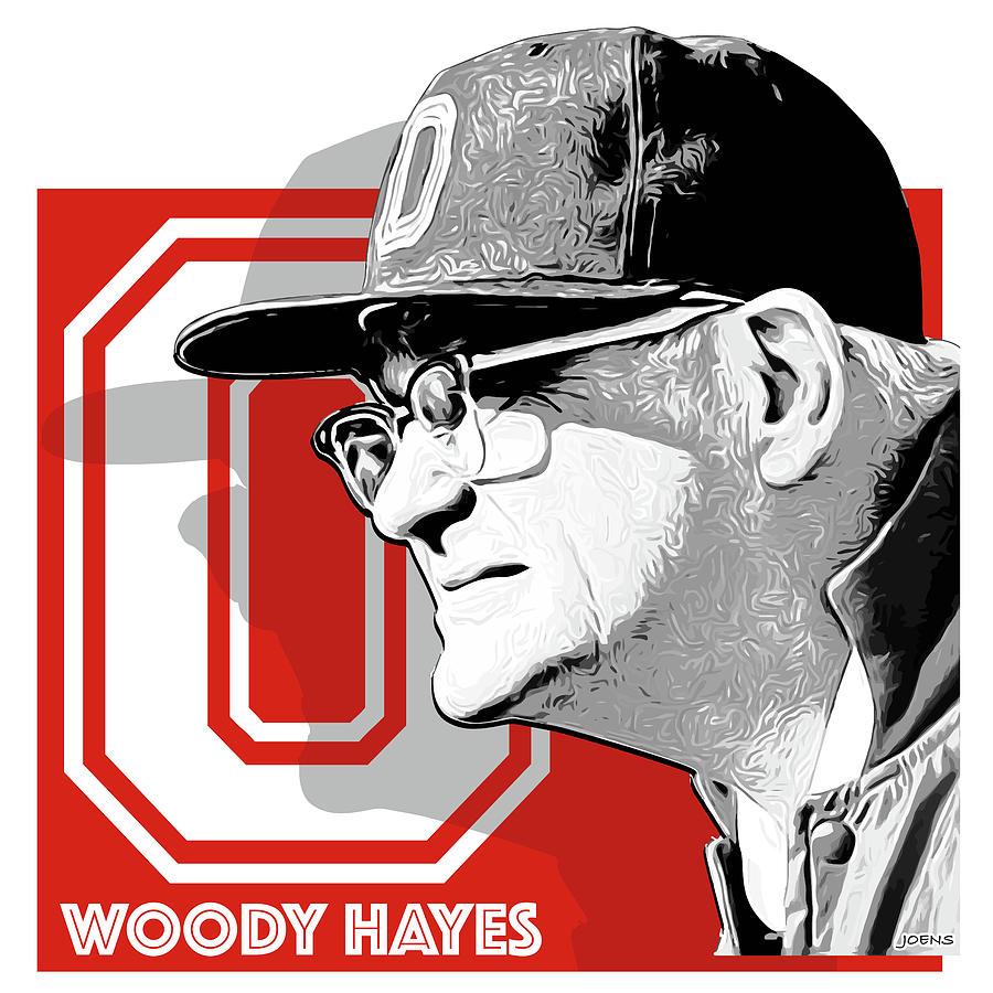 Woody Hayes Digital Art - Coach Woody Hayes by Greg Joens