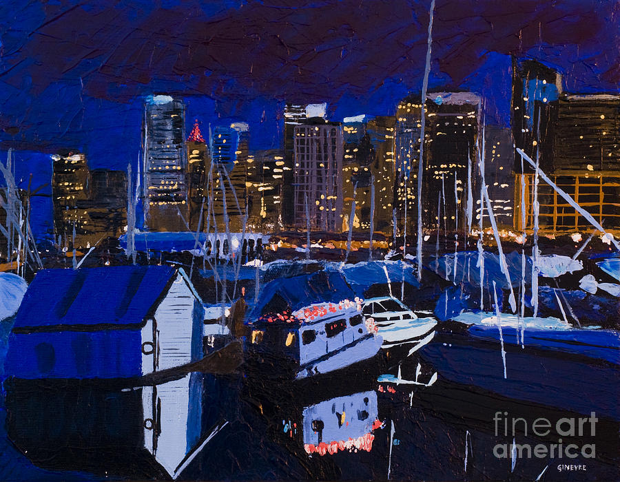 Vancouver Painting - Coal Harbour by Ginevre Smith