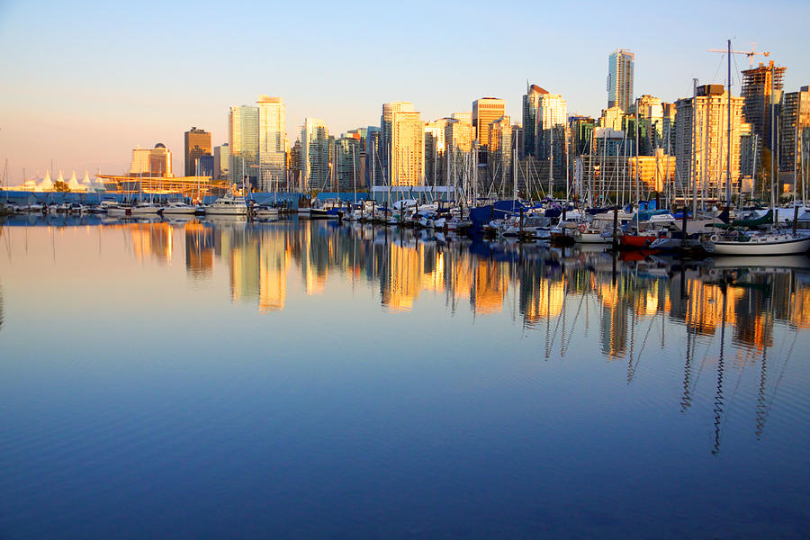 Boats Photograph - Coal Harbour Sunset 1 by Julius Reque