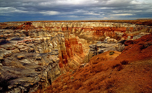 Landscape Photograph - Coal Mine Canyon by Tom Narwid