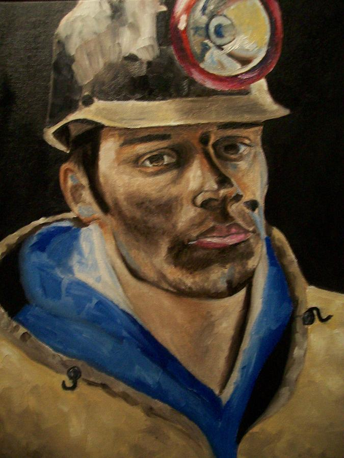 Coal Miner Painting - Coal Miner by Mikayla Ziegler