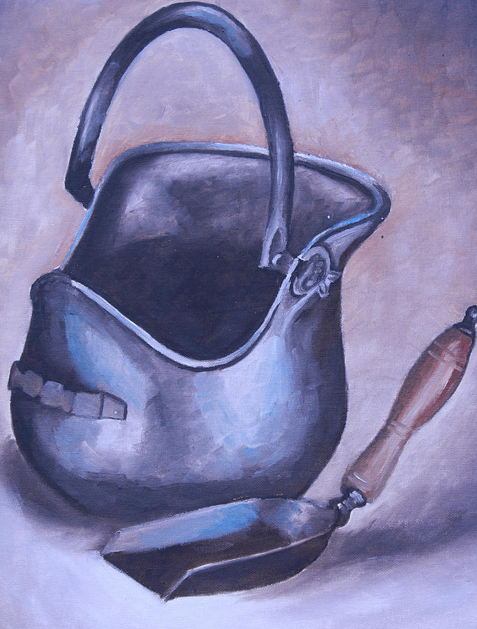 Coal Miner Painting - Coal Pail by Mikayla Ziegler
