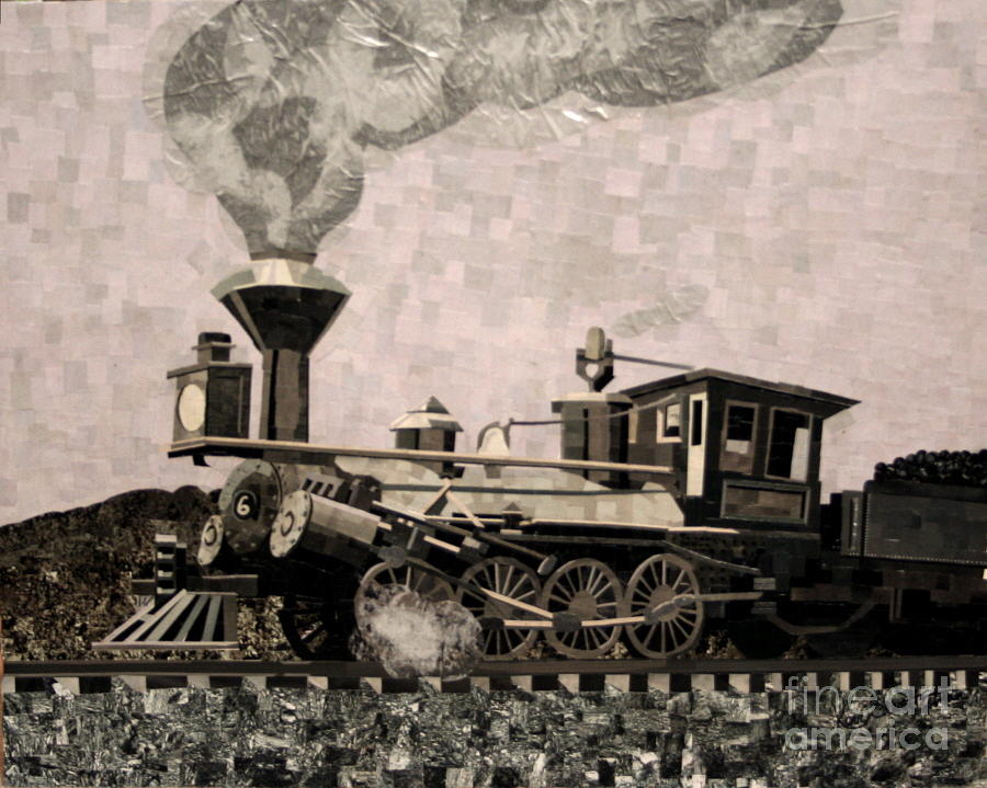 Collage Mixed Media - Coal Train To Kalamazoo by Kerri Ertman