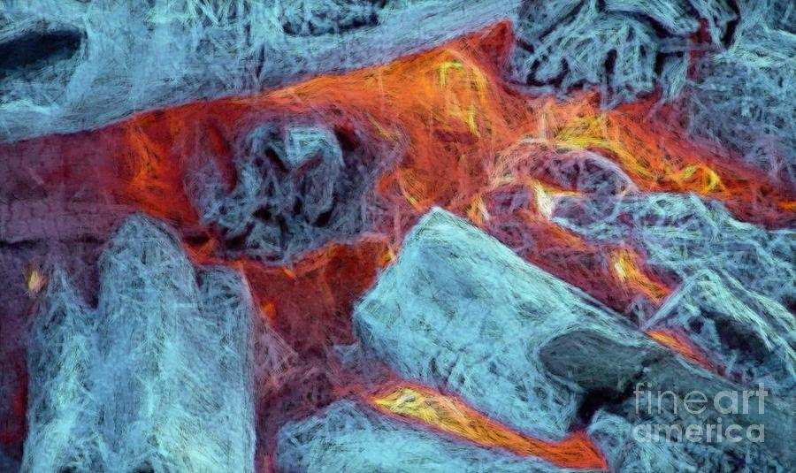 Campfire Digital Art - Coals And Embers by Ron Bissett