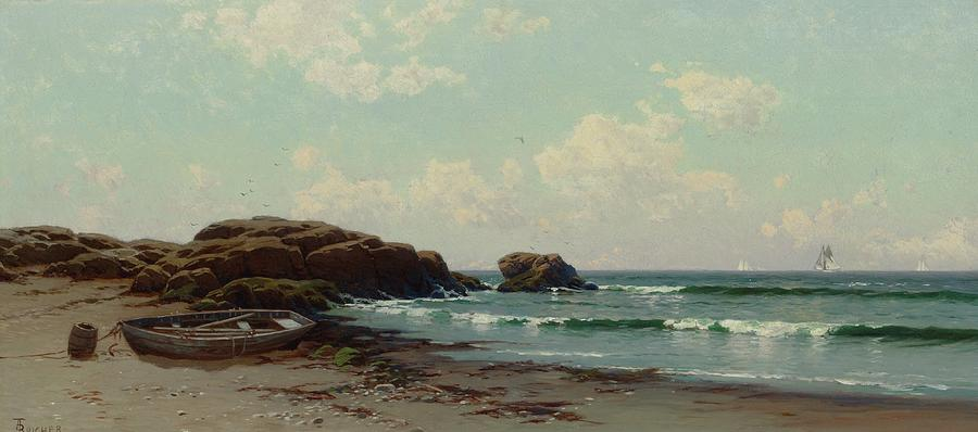 Beach Painting - coast by Alfred Thompson Bricher by Alfred Thompson Bricher