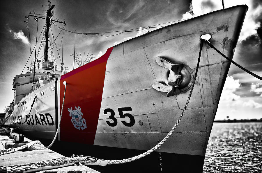 Boat Photograph - Coast Guard by Alessandro Giorgi Art Photography