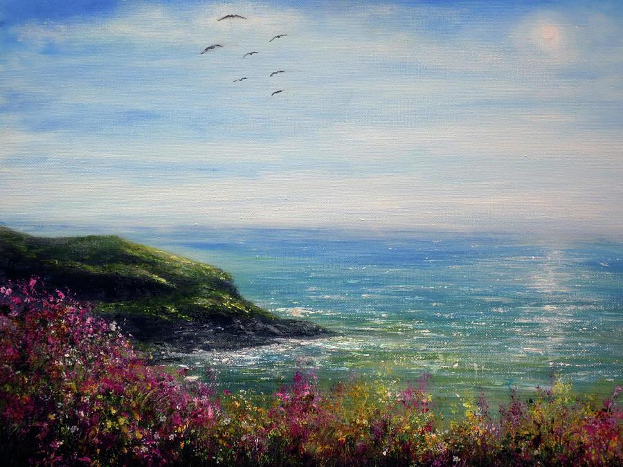 Cornwall Painting - Coast Of Cornwall by Ann Marie Bone