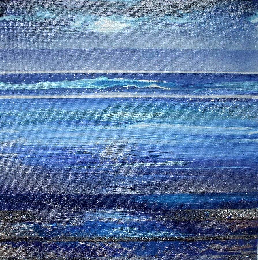 Coast Series Blue Am6 Mixed Media by Mike   Bell