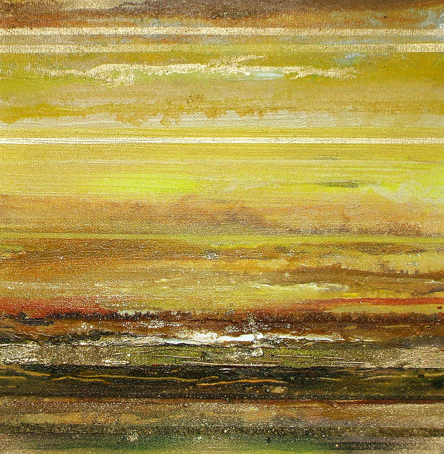Coast Series Yellow Am9 Mixed Media by Mike   Bell