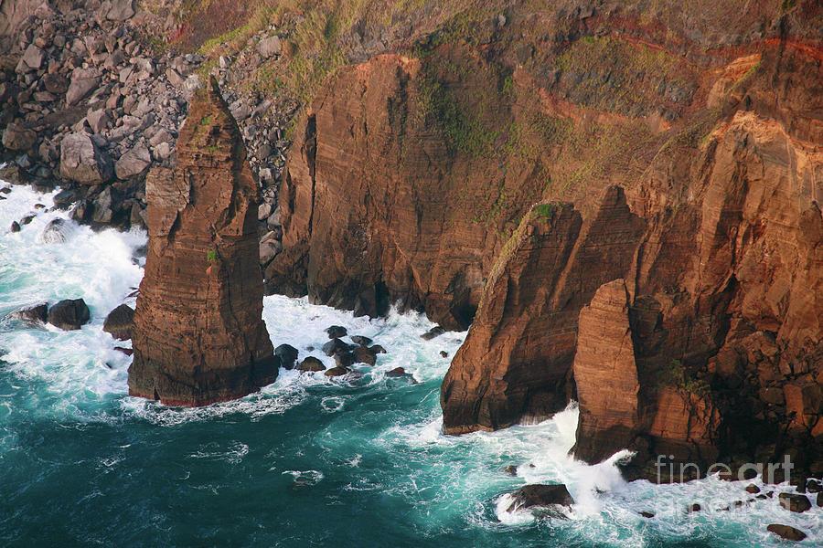 Rocks Photograph - Coastal Detail by Gaspar Avila