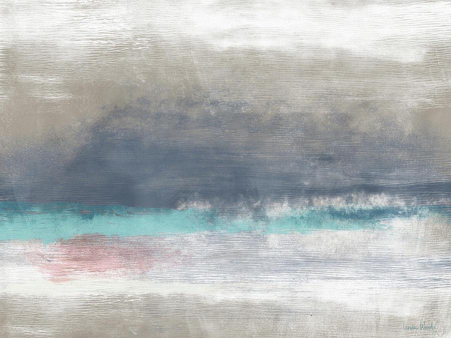 Coastal Mixed Media - Coastal Escape-abstract Art By Linda Woods by Linda Woods