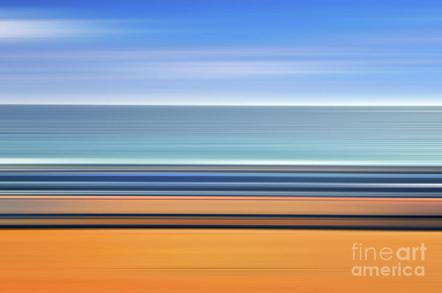 Abstract Photograph - Coastal Horizon 1 by Delphimages Photo Creations