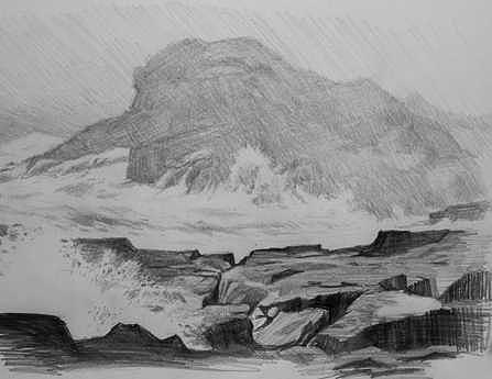 Coastal Landscape  Drawing by William Hay