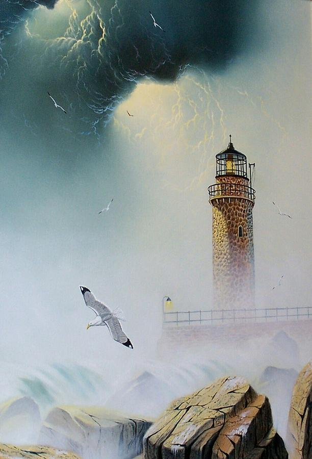 Lighthouse Painting - Coastal Light by Don Griffiths