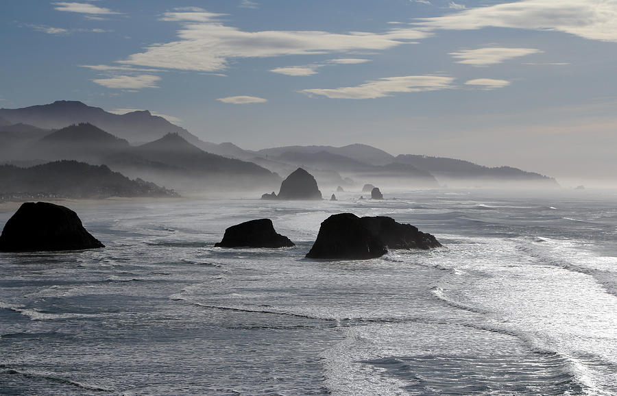 Coastal Mist Photograph by Randall Brewer