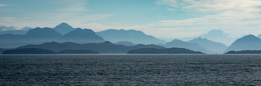Ferry Photograph - Coastal Mountains by Trance Blackman