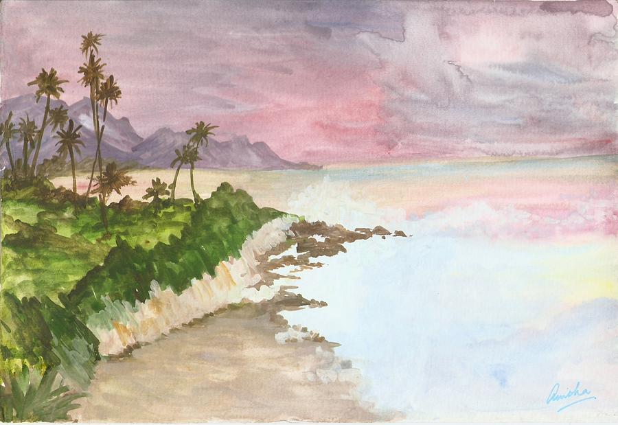 Coast Painting - Coastal Murmurs by Anisha Bordoloi