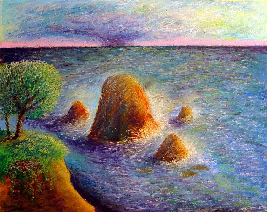 Seascape Painting - Coastal Newport by Ronald Johnson