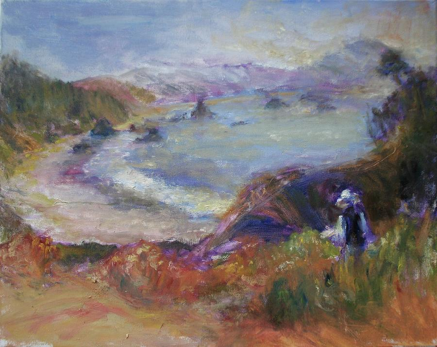Coastal Painter - Port Orford - Contemporary Impressionist Art by Quin Sweetman