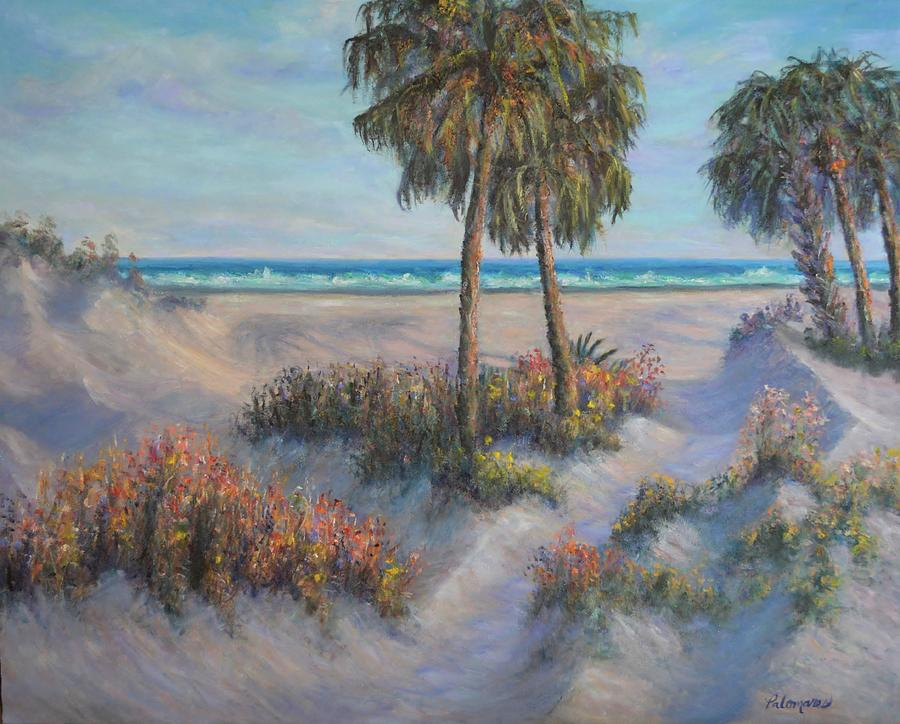 Coastal Painting Beach Path Sand Dunes  by Amber Palomares