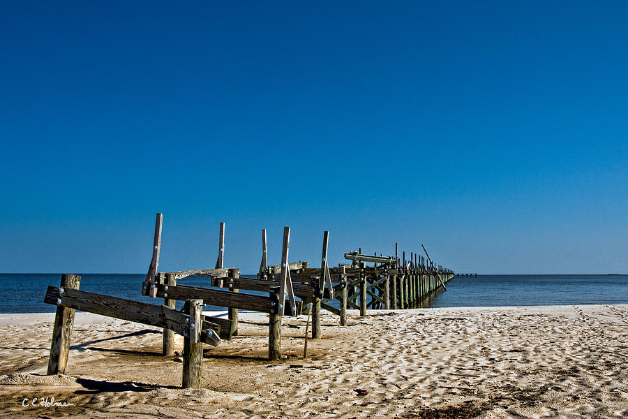 Pier Photograph - Coastal Remains by Christopher Holmes