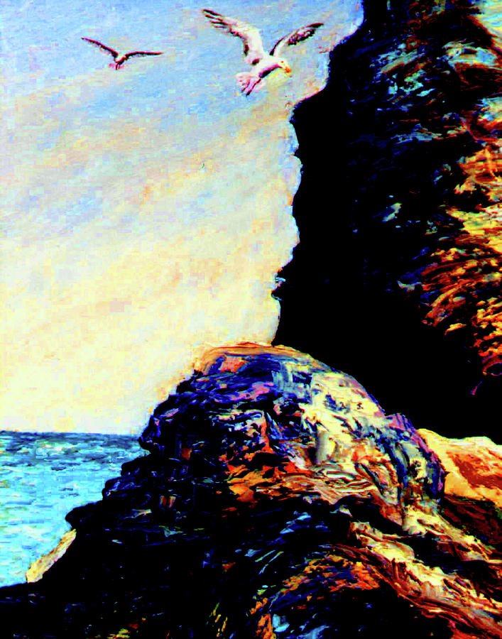 Impressionism Painting - Coastal Rocks by Stan Hamilton