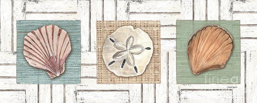 Coastal Painting - Coastal Shells 1 by Debbie DeWitt