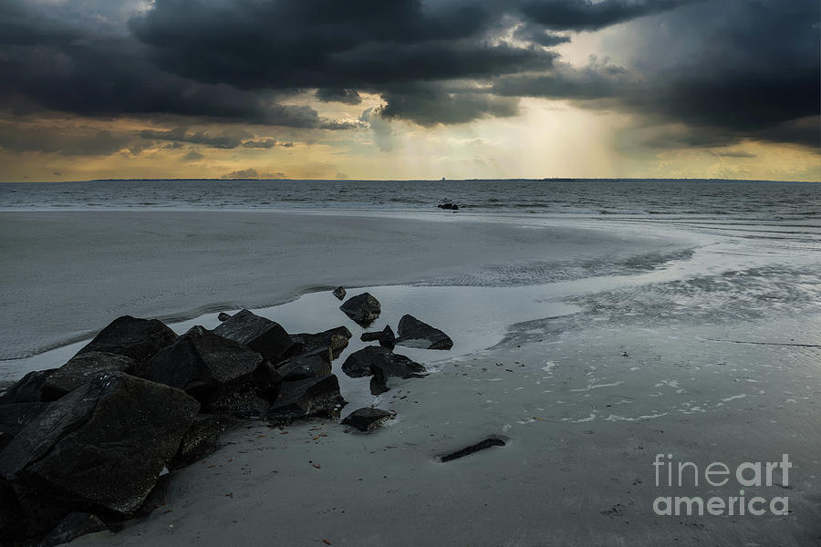 Coastal Storm Warning Photograph