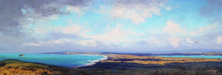 Nature Painting - Coastal Vista Nsw by Graham Gercken