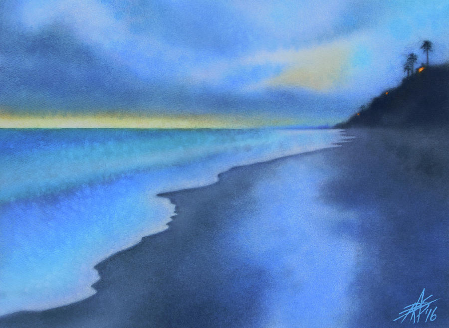 Landscape Painting - Coastal Walk Vi by Robin Street-Morris