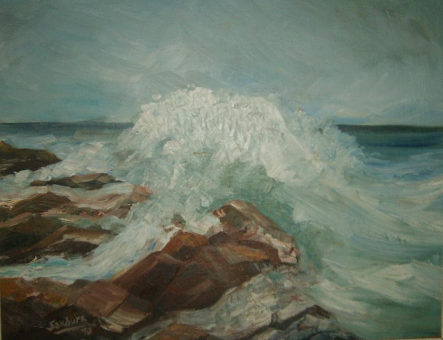 Coastal Waters Painting by Joseph Sandora Jr