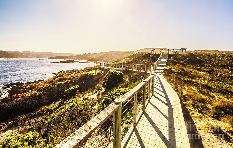 Walkway Photograph - Coastal Way by Jorgo Photography - Wall Art Gallery