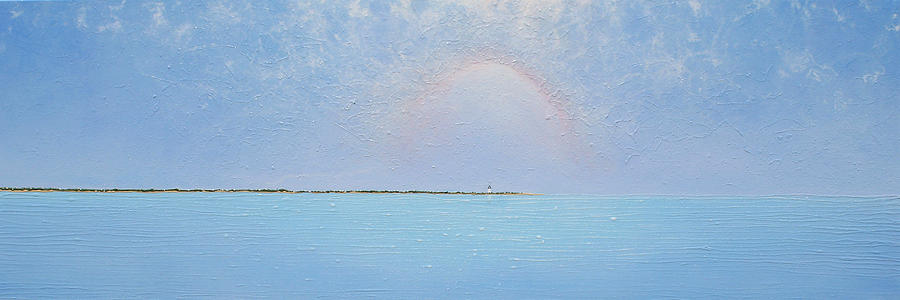 Lighthouse Painting - Coasting Into Lavender by Jaison Cianelli