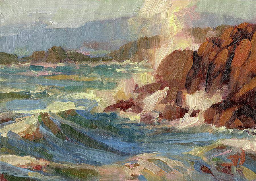 Coast Painting - Coastline by Steve Henderson