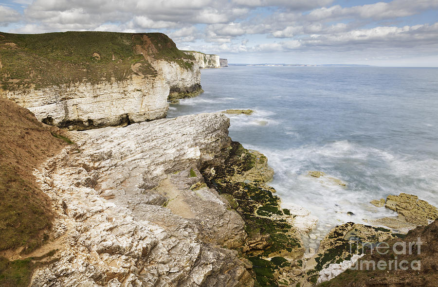 Bay Photograph - Coastline Viewed From Thornwick Bay Flamborough by Julie Woodhouse