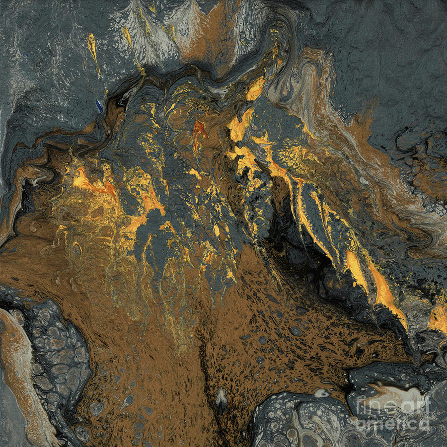 Vibrating Mixed Media - Coasts Aflame by Terry McConnell
