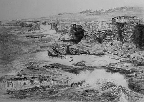 Coastscape Two Drawing by William Hay