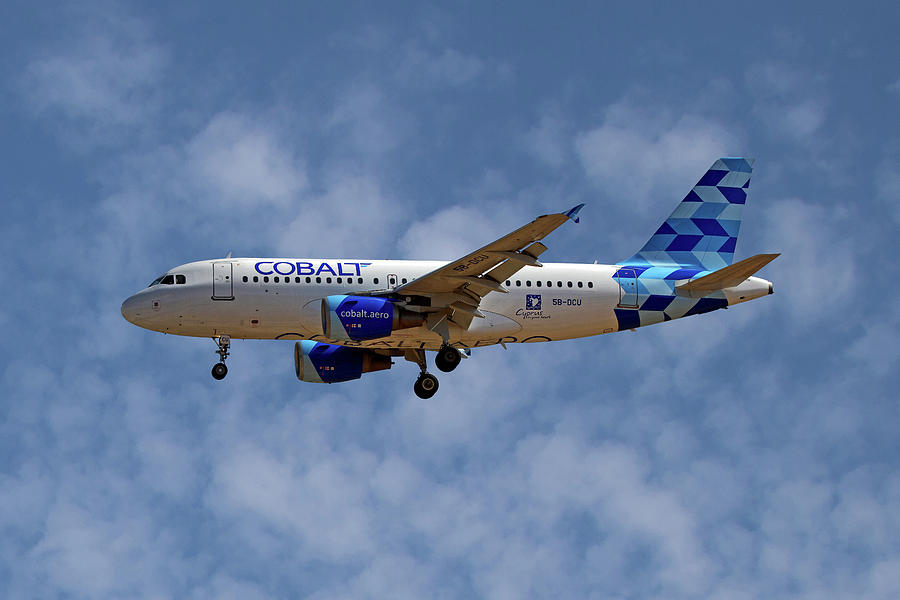 Airbus Photograph - Cobalt Air Airbus A319-112 1 by Smart Aviation