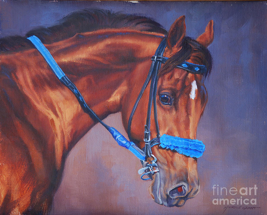 Michelle Grant Painting - Cobalt Horse by JQ Licensing