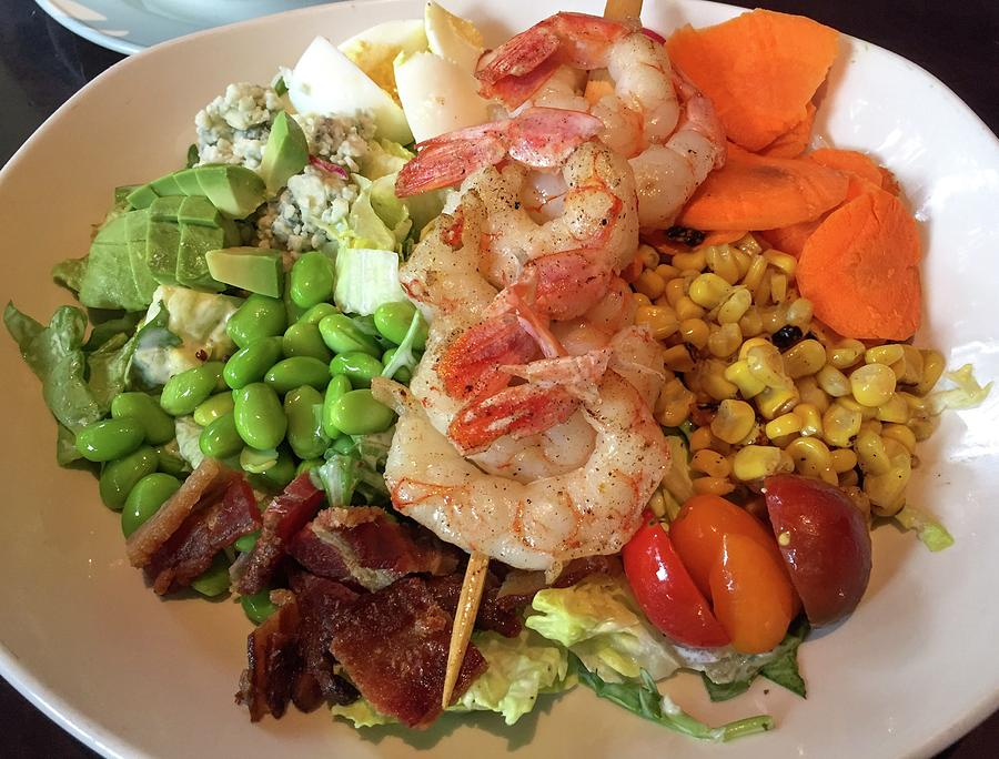 Cobb Salad Photograph - Cobb Salad Shrimps  by Olga Kurygina