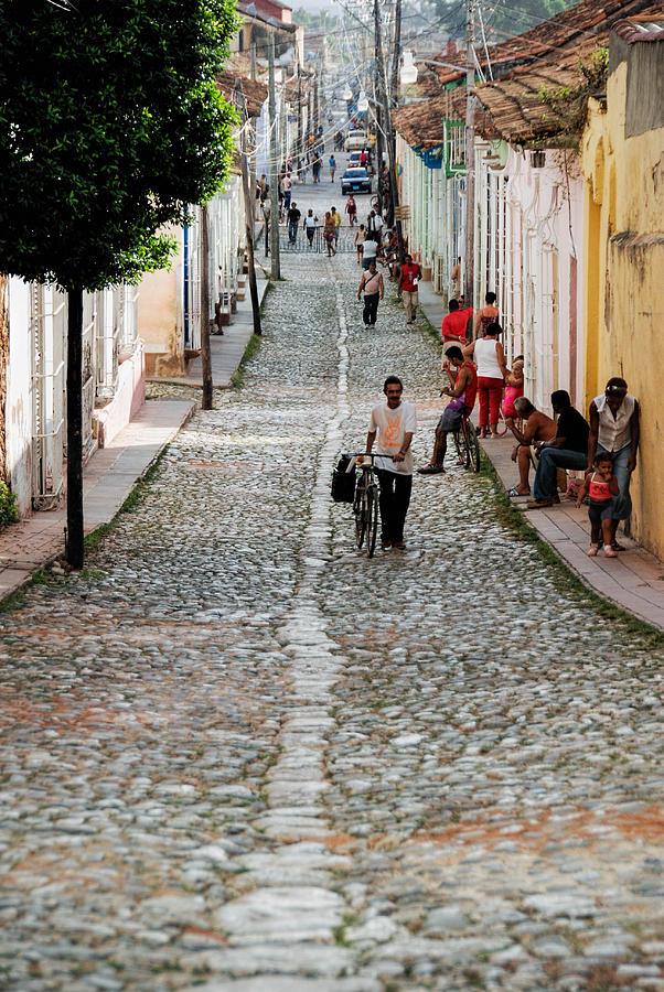 Cuba Photograph - Cobbled Road by Marie Schleich