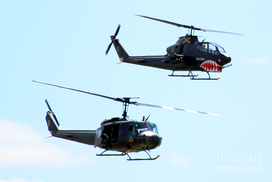 Military Photograph - Cobra And Huey by Larry Keahey