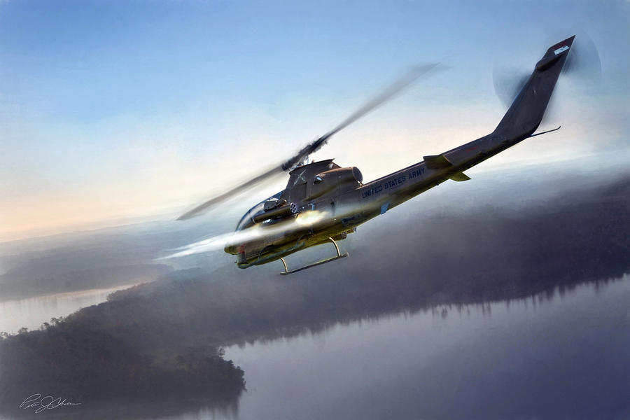 Aviation Digital Art - Cobra Attack by Peter Chilelli