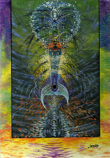 Cobra Painting - Cobra Marmaid by Irena Telidou