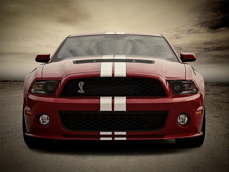 Mustang Digital Art - Cobra Red by Douglas Pittman