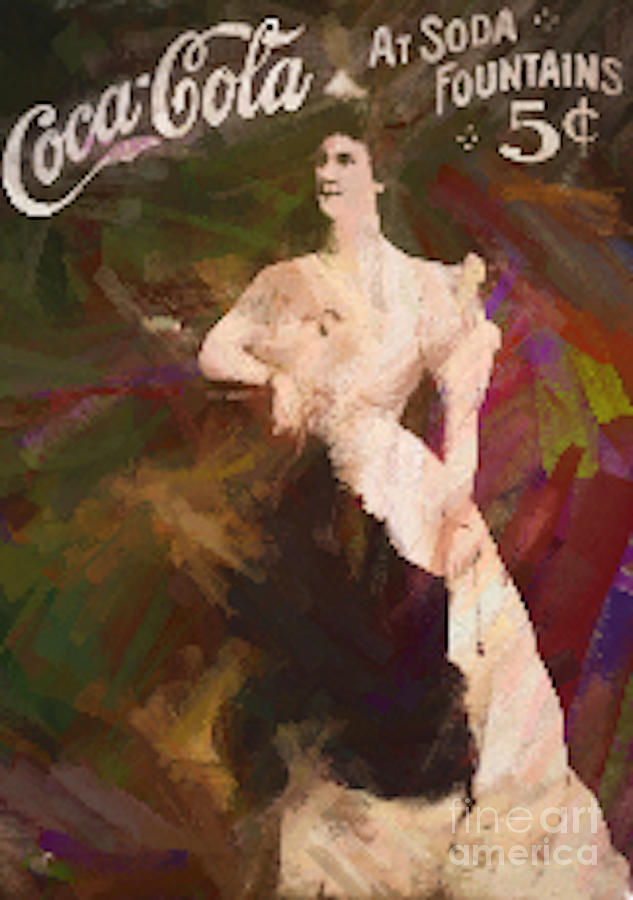Ad Painting - Coca Cola 1908 by Steven Parker