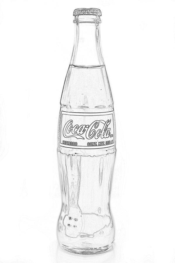 Coke Bottle Outline Coca Cola Black Outlin...