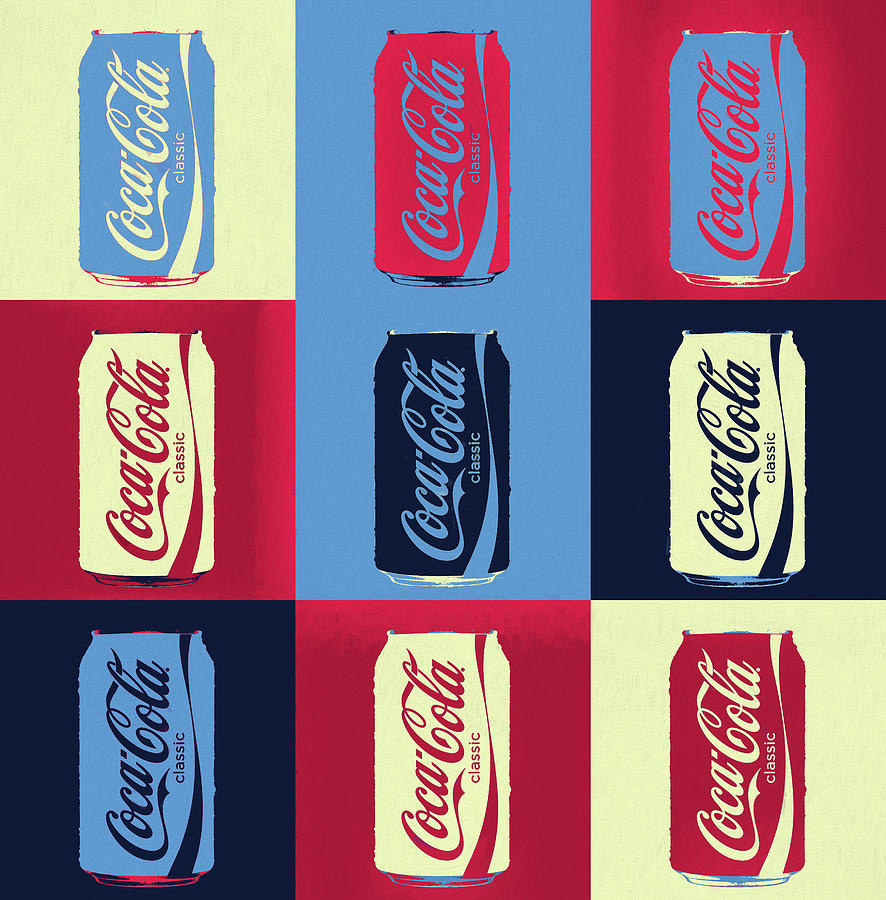 Coca Cola Can Pop Art Painting by Dan Sproul