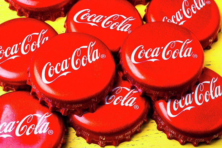 Coca Cola Photograph - Coca Cola Caps by Garry Gay